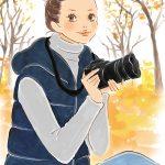 カメラを持つ女性イラスト