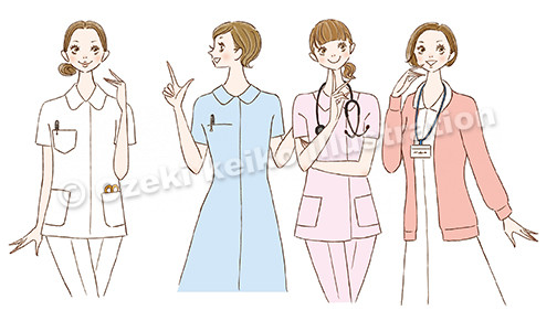 看護師女性イラスト